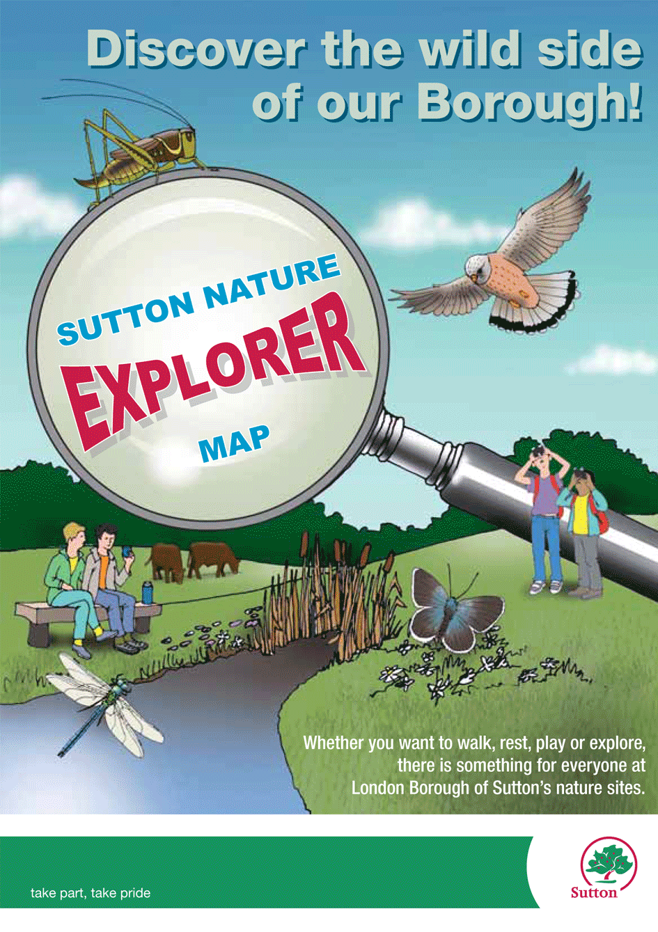 Sutton Nature Explorer Map front cover thumbnail image